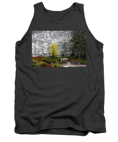 Tank Top featuring the photograph Forest Altar by Leena Pekkalainen