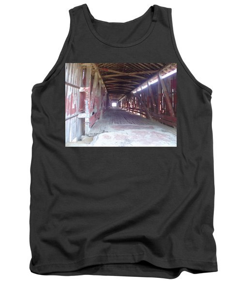 Tank Top featuring the photograph Forgotten Tunnel by Fortunate Findings Shirley Dickerson
