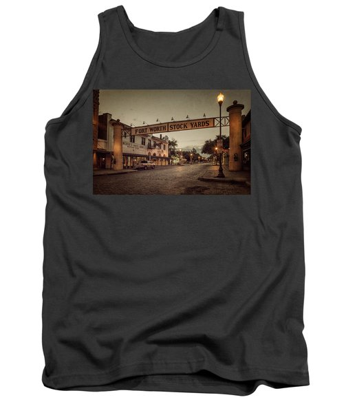 Tank Top featuring the photograph Fort Worth Stockyards by Joan Carroll