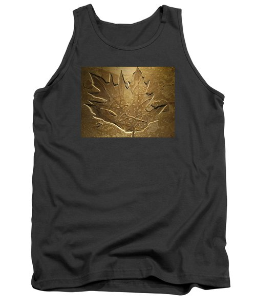 Fossilized Maple Leaf Tank Top by Connie Fox