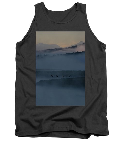 Four Birds Fly Over The Yellowstone Tank Top