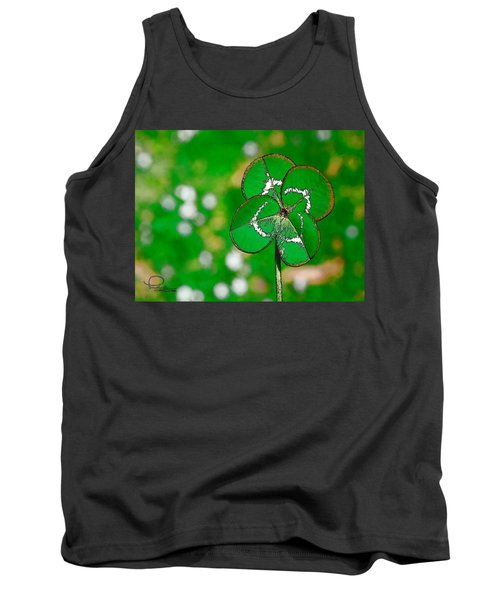 Four Leaf Clover Tank Top by Ludwig Keck