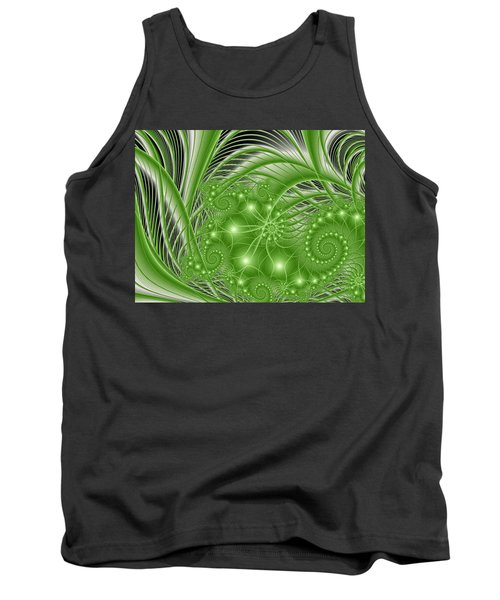 Fractal Abstract Green Nature Tank Top by Gabiw Art