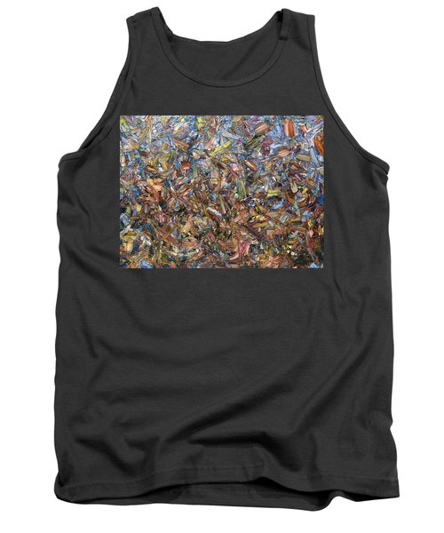 Tank Top featuring the painting Fragmented Fall by James W Johnson