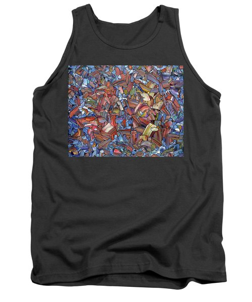 Tank Top featuring the painting Fragmented Rose by James W Johnson