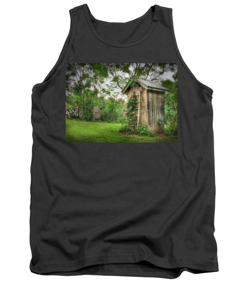 Fragrant Outhouse Tank Top by Lori Deiter