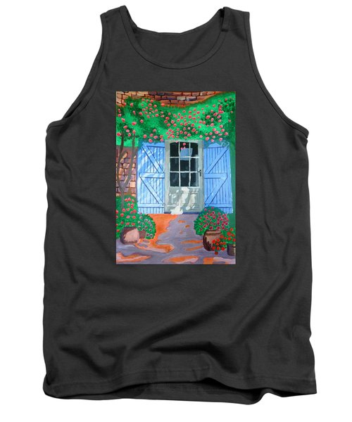 Tank Top featuring the painting French Farm Yard by Magdalena Frohnsdorff