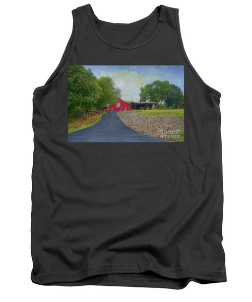 Fresh Country Charm Tank Top by Liane Wright