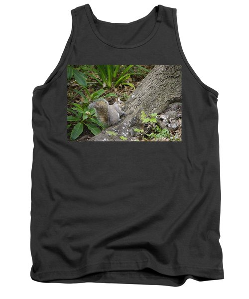Tank Top featuring the photograph Friendly Squirrel by Marilyn Wilson