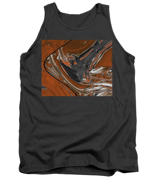 Tank Top featuring the digital art Frost And Woodsmoke 1 by Judi Suni Hall