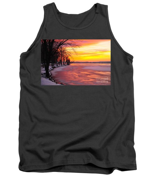 Tank Top featuring the photograph Frozen Dawn At Lake Cadillac  by Terri Gostola