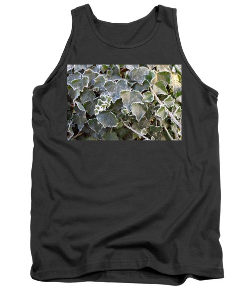 Tank Top featuring the painting Frozen Hedera Helix 2 by Felicia Tica