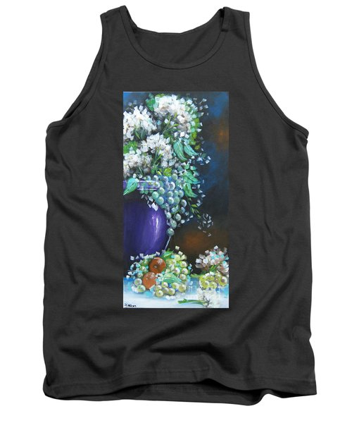 Tank Top featuring the painting Fruit And Flowers Still Life by Patrice Torrillo