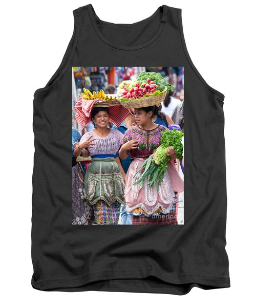 Fruit Sellers In Antigua Guatemala Tank Top by David Smith