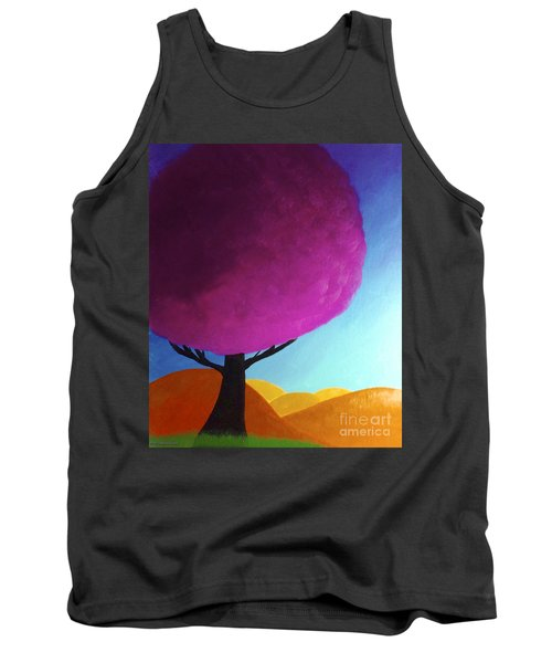 Tank Top featuring the painting Fuchsia Tree by Anita Lewis