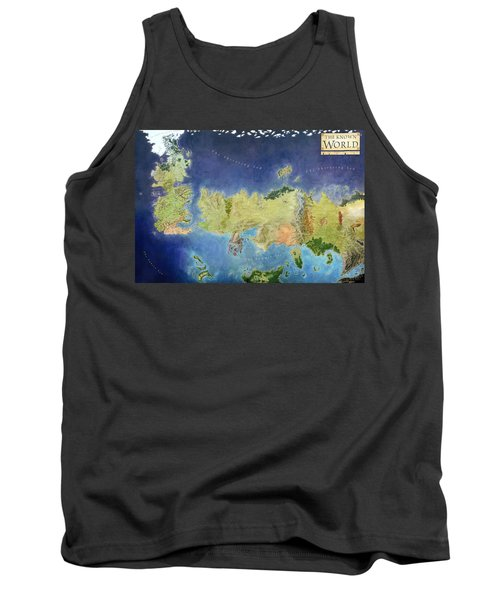 Game Of Thrones World Map Tank Top by Gianfranco Weiss