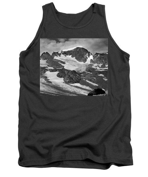 509427-bw-gannett Peak And Gooseneck Glacier, Wind Rivers Tank Top