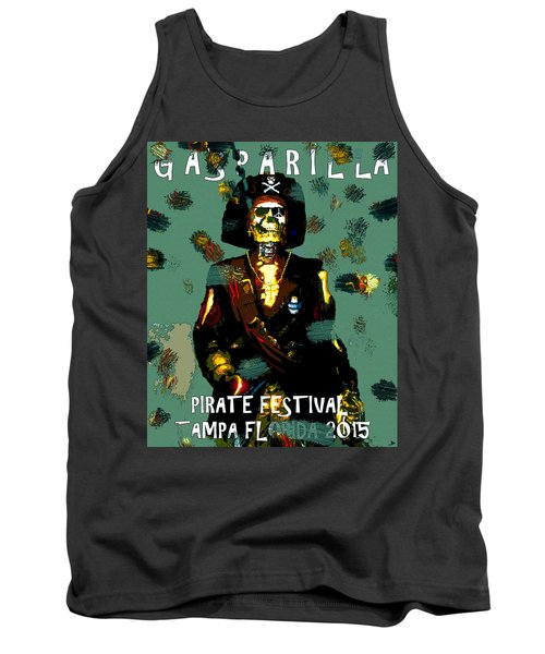 Gasparilla Pirate Fest 2015 Full Work Tank Top by David Lee Thompson