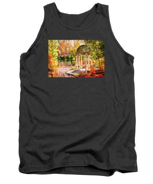 Tank Top featuring the photograph Garden Of Beauty by Trina  Ansel