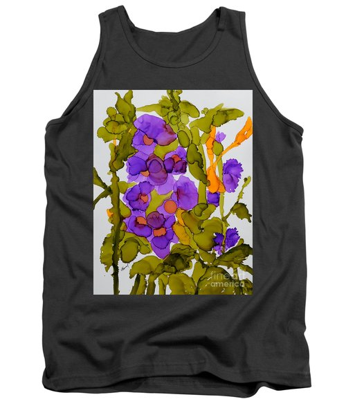 Garden Of Hollyhocks Tank Top