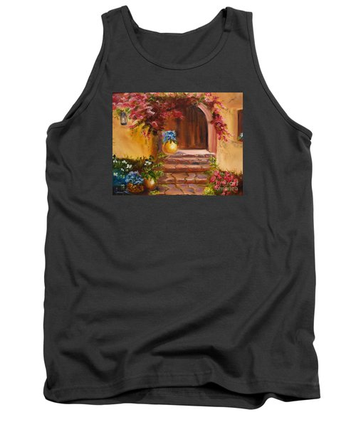 Garden Of Serenity Tank Top by Jenny Lee