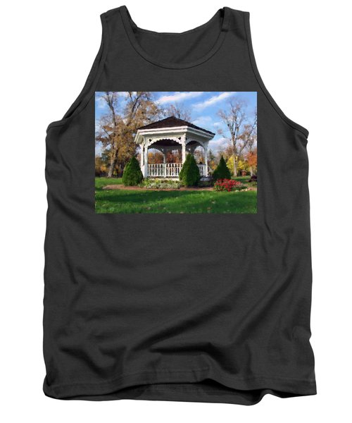 Tank Top featuring the photograph Gazebo At Olmsted Falls - 1 by Mark Madere