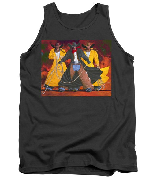 Good Bad And Ugly Tank Top by Lance Headlee