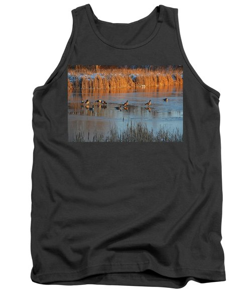 Geese In Wetlands Tank Top