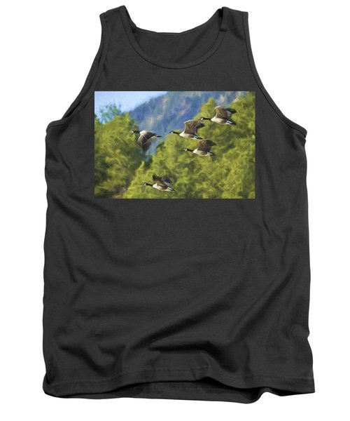 Geese On A Mission Tank Top