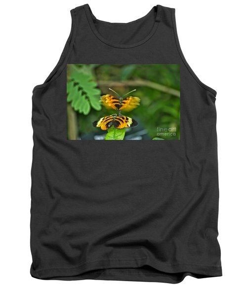 Tank Top featuring the photograph Gentle Butterfly Courtship 03 by Thomas Woolworth