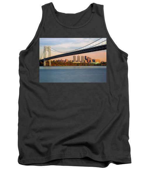 George Washington Bridge In Autumn Tank Top