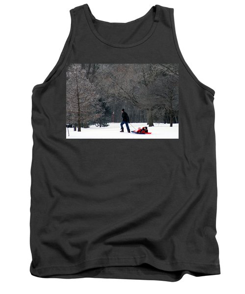 Tank Top featuring the photograph Getty-up Daddy by Kay Novy