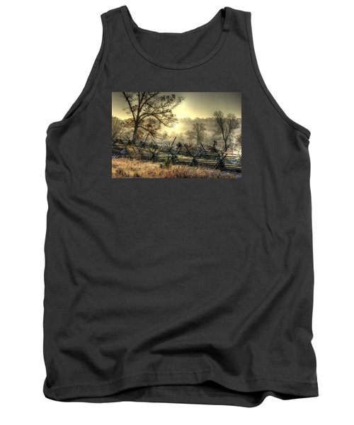 Tank Top featuring the photograph Gettysburg At Rest - Sunrise Over Northern Portion Of Little Round Top by Michael Mazaika