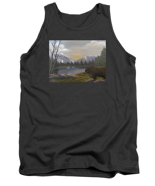 Ghost Bear-the Cascade Grizzly Tank Top by Sheri Keith