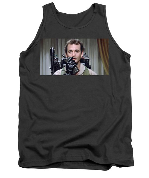 Tank Top featuring the painting Ghostbusters - Bill Murray Artwork 1 by Sheraz A