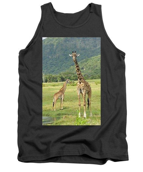 Giraffe Mother And Calftanzania Tank Top
