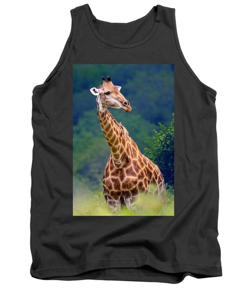 Giraffe Portrait Closeup Tank Top