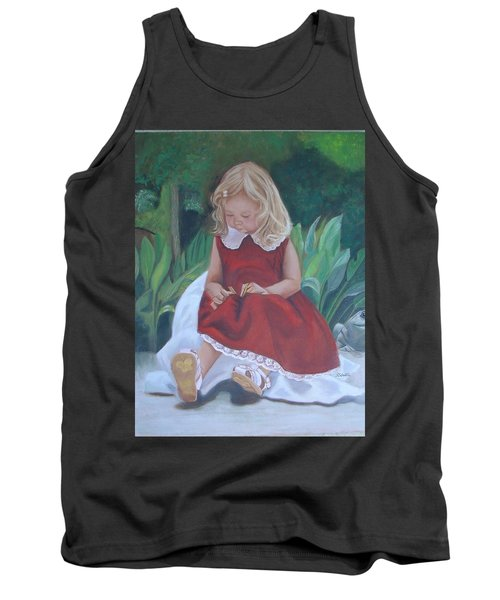 Girl In The Garden Tank Top by Sharon Schultz