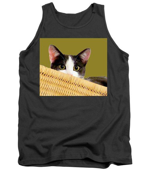 Tank Top featuring the photograph Girlie Cat  by Janette Boyd