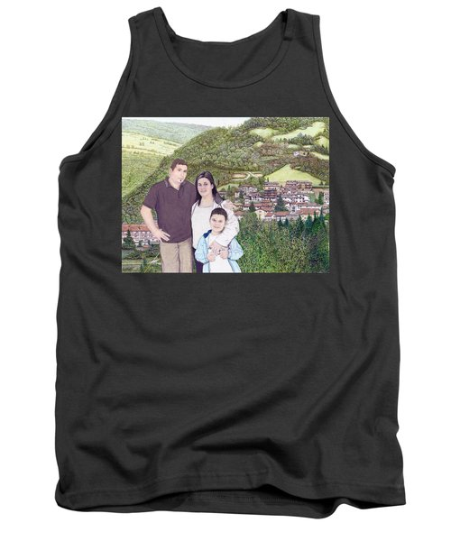 Tank Top featuring the painting Giusy Mirko And Simone In Valle Castellana by Albert Puskaric