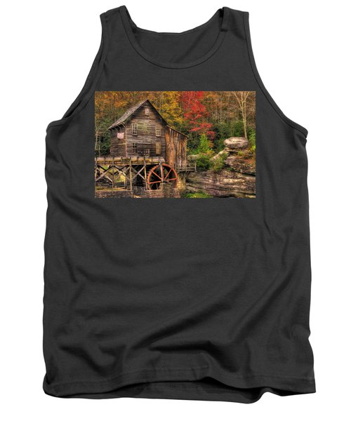 Glade Creek Grist Mill-1a Babcock State Park Wv Autumn Late Afternoon Tank Top
