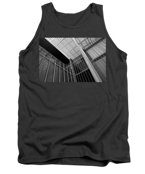Glass Steel Architecture Lines Black White Tank Top