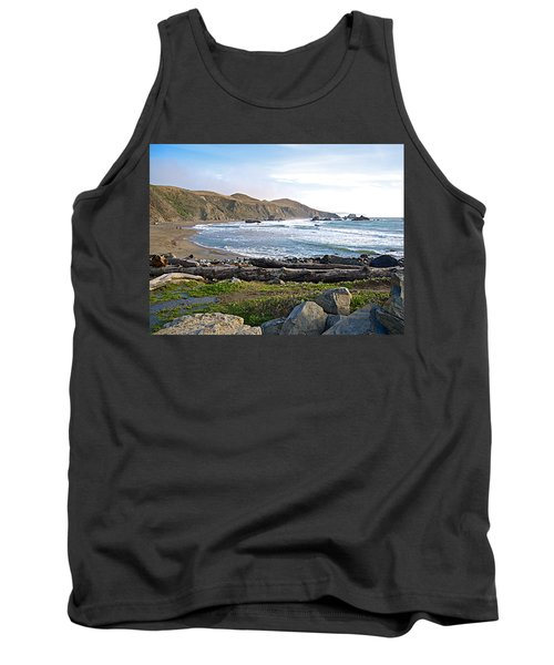 Goat Rock State Beach On The Pacific Ocean Near Outlet Of Russian River-ca  Tank Top by Ruth Hager