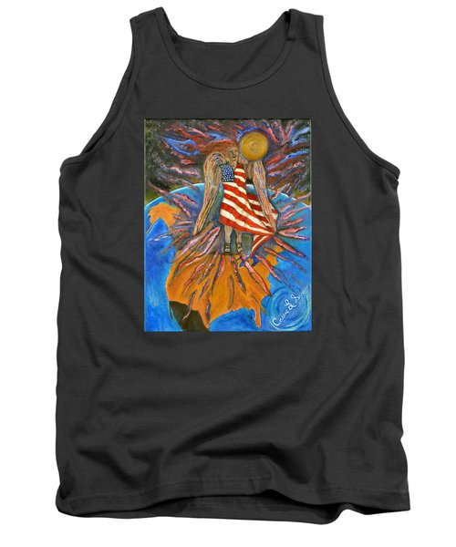 Tank Top featuring the painting God Shed His Grace On Thee by Cassie Sears
