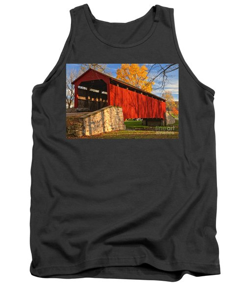 Gold Above The Poole Forge Covered Bridge Tank Top