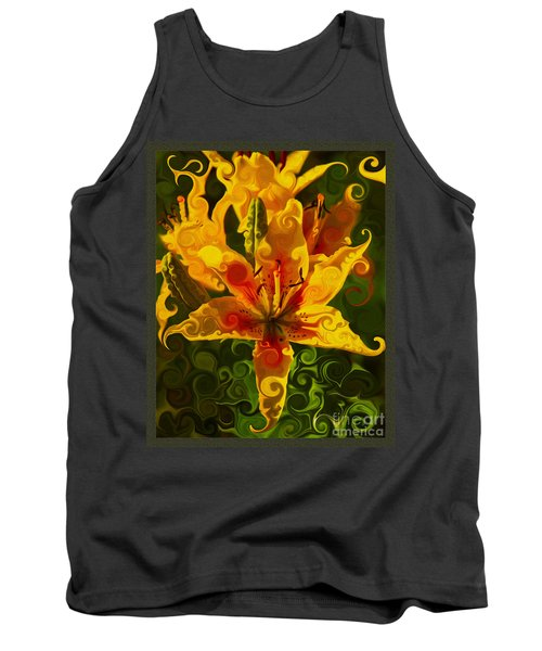 Tank Top featuring the painting Golden Beauties by Omaste Witkowski