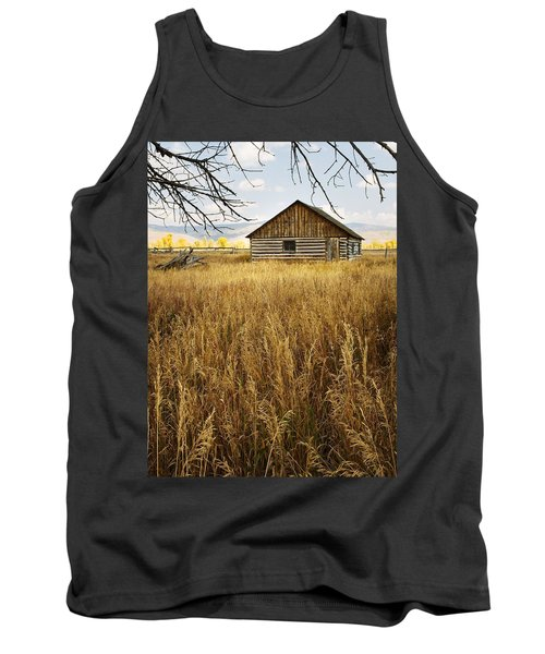 Tank Top featuring the photograph Golden Cabin by Sonya Lang