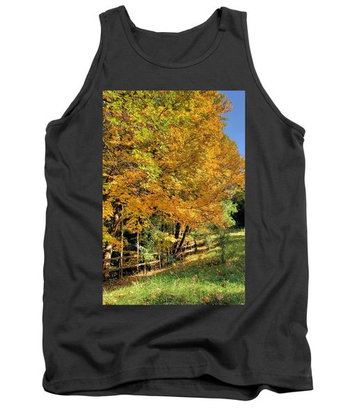 Tank Top featuring the photograph Golden Fenceline by Gordon Elwell