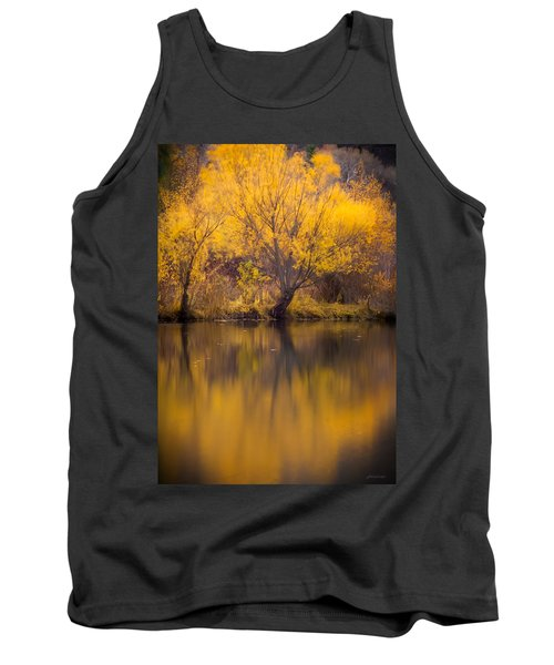 Tank Top featuring the photograph Golden Pond by Steven Milner