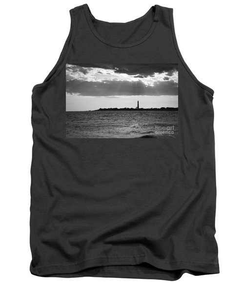 Golden Rays At Cape May Bw Tank Top